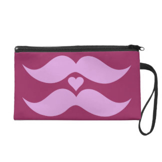 Pink Mustaches custom accessory bags