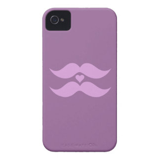 Pink Mustaches custom Blackberry case