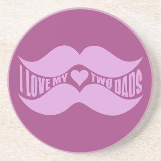 Pink Mustaches custom coaster