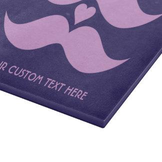 Pink Mustaches custom cutting board