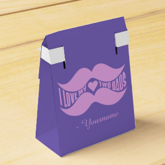 Pink Mustaches custom favor boxes