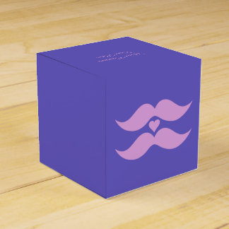 Pink Mustaches custom favor boxes Party Favour Box