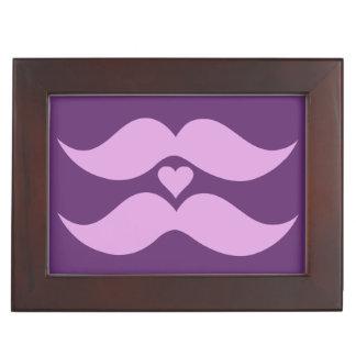 Pink Mustaches custom keepsake box