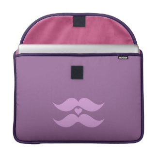 Pink Mustaches custom MacBook sleeve