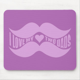 Pink Mustaches custom mousepad