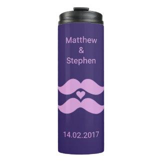 Pink Mustaches custom names & date tumbler