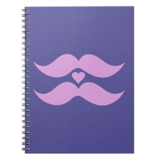 Pink Mustaches custom notebook