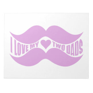Pink Mustaches custom notepad