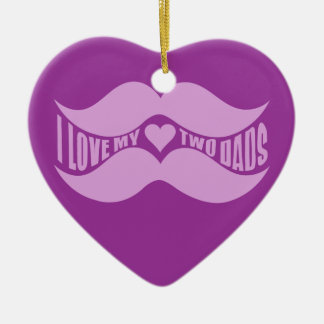 Pink Mustaches custom ornament