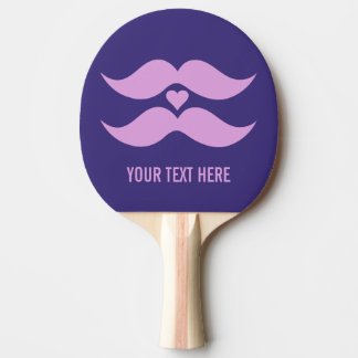Pink Mustaches custom ping pong paddle