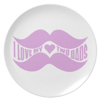 Pink Mustaches custom plate