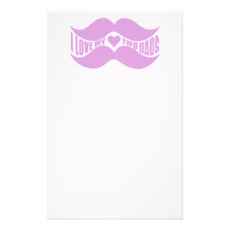 Pink Mustaches custom stationary Stationery