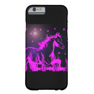 Pink mustang on black background barely there iPhone 6 case