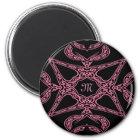 Pink mystery Gothic monogram M Magnet
