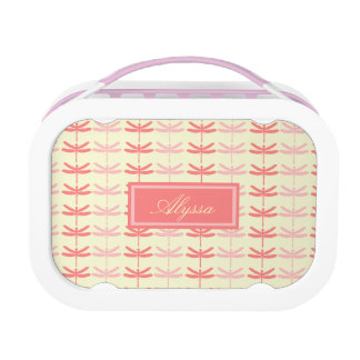 Pink-n-Coral Dragonflies Lunch Box