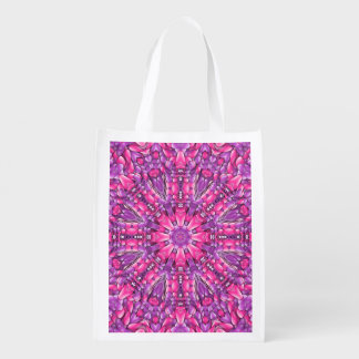 Pink n Purple Colorful Reusable Bags Market Totes