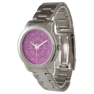 Pink n Purple Colorful   Vintage Mens Watch