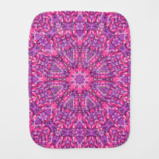Pink n Purple Kaleidoscope  Burp Cloth