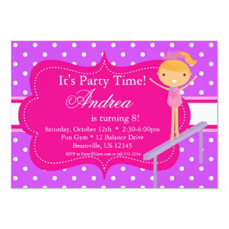 Pink n Purple polka dot Birthday Party Invitation