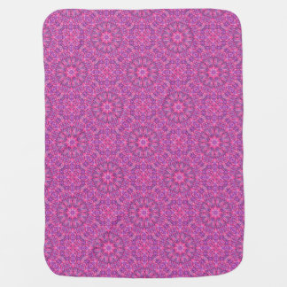 Pink n Purple  Tiled Design Baby Blankets