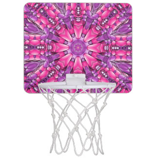 Pink n Purple Vintage Kaleidoscope Basketball Hoop