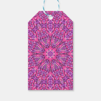 Pink n Purple Vintage Kaleidoscope  Gift Tags