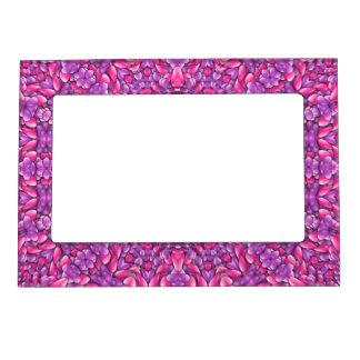 Pink n Purple Vintage Kaleidoscope Magnetic Frames