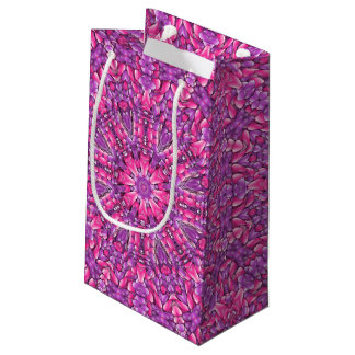 Pink n Purple Vintage Kaleidoscope Small Gift Bag