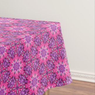 Pink n Purple Vintage Kaleidoscope   Tablecloth