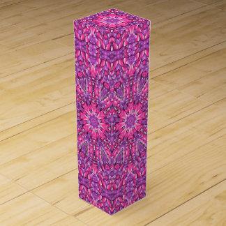 Pink n Purple Vintage Kaleidoscope Wine Gift Box