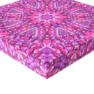 Pink n Purple Vintage Kaleidoscope Wrapped Canvas