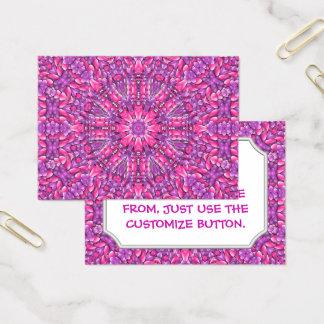Pink n Purple Vintage Pattern  Business Cards