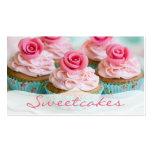 Pink n' Teal Rose Cupcake Bakery Pack Of Standard Business Cards