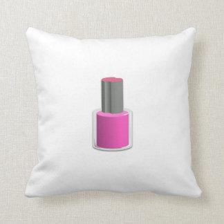 Pink Nail Polish Cushion