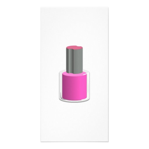 Pink Nail Polish Personalized Photo Card