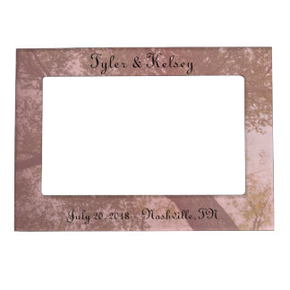 Pink nature tree magnetic picture frame