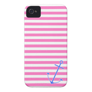 Pink Nautical Anchor Case-Mate iPhone 4 Cases