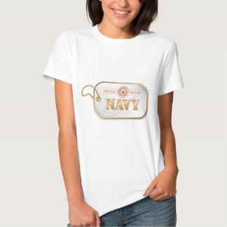 Pink Navy Sister Dog tag Tshirts