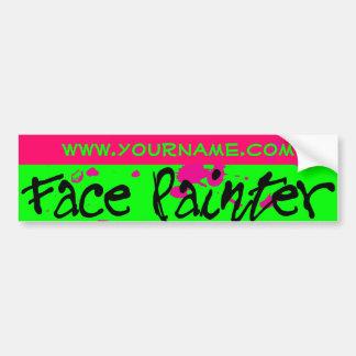 Pink Neon Bumper Sticker