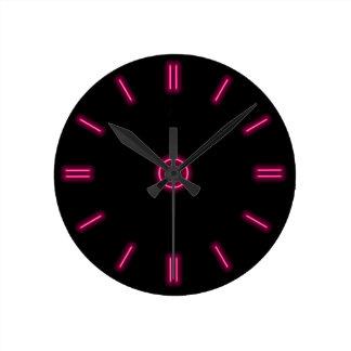 Pink Neon Clock