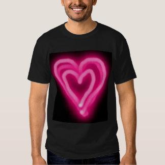 Pink Neon Poker shirt Heart Design by Teo Alfonso