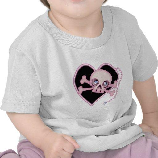 Pink Neon Skull Shirt