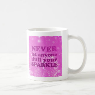 Pink | Never Let Anyone Dull Your Sparkle Glitter Coffee Mug