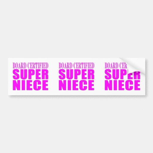 Pink Nieces Birthday & Christmas : Super Niece Bumper Sticker
