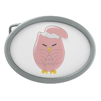 Pink Night Owl Belt Buckle