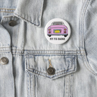 Pink Nissan Figaro Car 6 Cm Round Badge