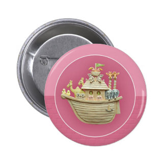 Pink Noah's Ark 6 Cm Round Badge