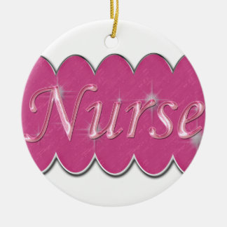 Pink Nurse Christmas Ornament