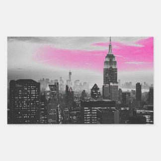 pink ny.jpg rectangular sticker