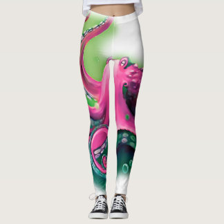 Pink Octopus Leggings
